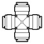 Acetal Push-To-Connect Union Cross Fittings