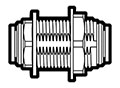 1/4 Inch Tube Outside Diameter Polypropylene Push-To-Connect Bulkhead Union